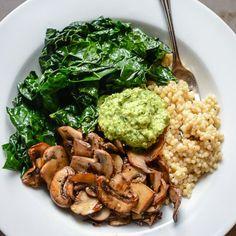 Barley with mushrooms and beets