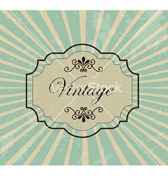 Vintage frame vector by Giuseppe_R on VectorStock®