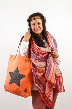 Bohemian Style Ibiza Bag, now in Stock! http://tootz.nl/tassen/grote-tassen/becksondergaard-h-supersize-star-tote-dusty-peach.html