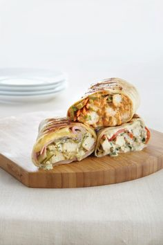 Grilled Chicken, Ham & Swiss Wraps - one of the best pampered chef recipes I have made and we all love!