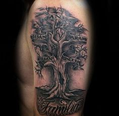 tattoo design for men tattoo ideas family tree tattoos family tattoos ...