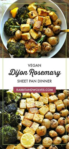 Jul 4, 2020 - This vegan Dijon rosemary sheet pan dinner is so simple, so delicious and healthy. Tofu, baby potatoes and broccoli roasted in a Dijon rosemary vinaigrette.