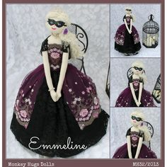 Emmeline Masquerade Doll on hand-made