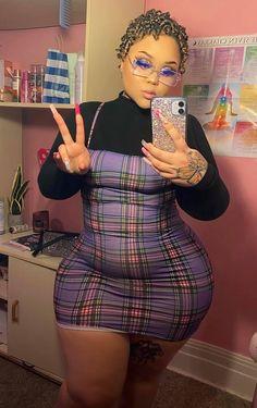 Thick Girls Outfits, Curvy Girl Outfits, Cute Outfits, Thick Girl Fashion, Curvy Women Fashion, Plus Size Fashion, Pretty Black Girls, Beautiful Black Women, Corpo Sexy