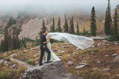 A Rustic Mountain Wedding at @snowbasinresort from @amandaberube via @luxemtweddings