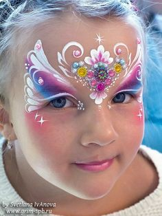 Jewelled butterfly Face Painting Tips, Mask Painting, Face Painting Designs, Body Painting, Adult Face Painting, Face Painting Tutorials, Painting For Kids, Butterfly Face Paint, Mermaid Face Paint