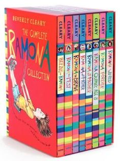Whether a long-time fan of Beverly Cleary or a newcomer to her award-winning books for children, this eight-book box set of the complete Ramona Quimby series. Good Books, Books To Read, My Books, Ramona The Pest, Ramona Books, Ramona Quimby, Ramona And Beezus, Beverly Cleary, Mighty Girl