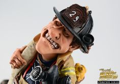 Collectible funny fireman and firefighter gift and figurine. Perfect for Christmas present, retirement or thank you gift.