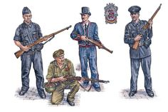 """Republican Forces - Security forces: • Cabo de Asalto, Cuerpo de Seguridad, field dress • Cabo de Carabineros, summer field dress • Catalán Mosso d'Esquadra, parade dress • Guardia de Asalto, service dress"", Stephen Walsh"