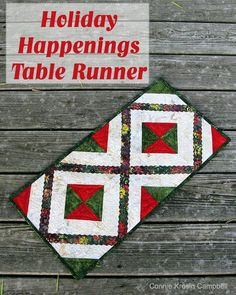 Holiday Happening Table Runner Pin