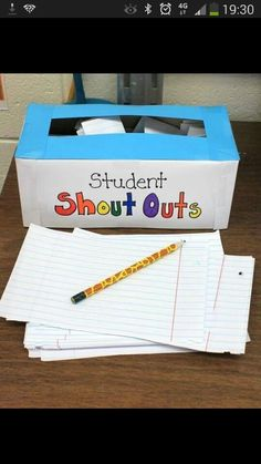 An opportunity for pupils to share kind words about eachother anonymously. Love this idea.