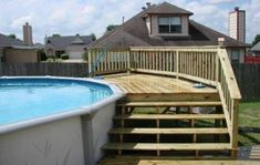 Are you think of how to enhanced your pool area with pool deck ideas? I have here how to enhance your pool area with a pool deck ideas you will love. Above Ground Pool Landscaping, Above Ground Pool Decks, Backyard Pool Landscaping, Backyard Pergola, Garden Pool, In Ground Pools, Landscaping Ideas, Acreage Landscaping, Cheap Pergola
