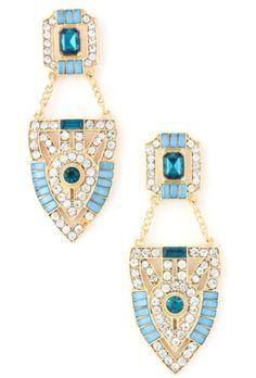 Blue Nile Crystal Earrings
