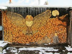 Woodpile Owl Art