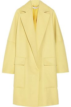 Stella McCartney Flore wool and silk-blend coat | NET-A-PORTER