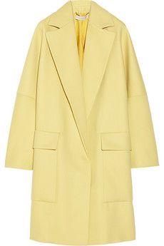 Stella McCartney Flore wool and silk-blend coat | NET-A-PORTER