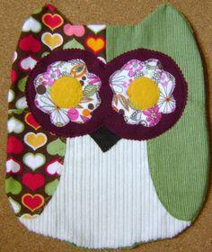 Unique Handmade  Valentine Owl Print Pillow by kalenescustomgifts, $23.00