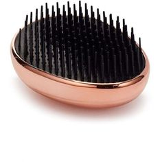 Miss Selfridge Rose Gold Hairbrush (€19) ❤ liked on Polyvore featuring beauty products and rose gold