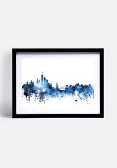 New York Skyline Blue Black artPause Wall | Superbalist.com