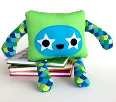 Soft Toy Monster Softie Plushie Stuffed Animal by FeltForceFive https://www.etsy.com/au/shop/FeltForceFive