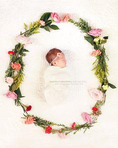 newborn photography, newborn girl photography, angela garmendia photography, flowers, photography