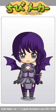 My OC, Violet. made with Chibi Maker by gen8 on Deviantart!