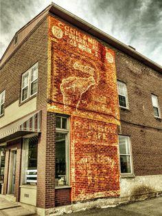 A great old ghost sign in Altavista, Virginia   #ghostsign  #vintagead #CocaCola
