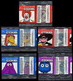 McDonald's Happy Meal cookies. It's a shame they don't include these anymore.