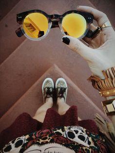 9d5601ce9e9 Retro Keyhole Mirror Lens Sunglasses Clothing Items