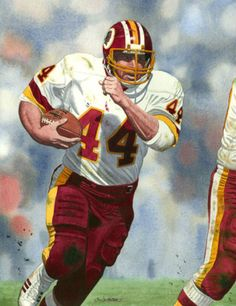 John Riggins, Redskins by artist G. Redskins Football, Nfl Football Players, Football Art, Football Helmets, Football Pictures, Sports Pictures, Super Bowl, Nfl Hall Of Fame, Arena Football