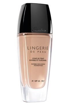 Guerlain 'Lingerie de Peau' Invisible Skin-Fusion Foundation SPF 20 | Nordstrom ~ Got a sample of this, and I have to admit: it's pretty amazing! (02 Beige Clair)