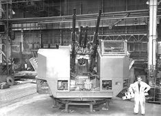 Bofors Gun Mounting at the Scotswood Works, Newcastle upon Tyne, September 1946, image from Tyne & Wear Archives
