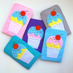 Felt Phone, Felt Applique, School Supplies, Coin Purse, Ipad, Phone Cases, Wallet, Sewing, Leather