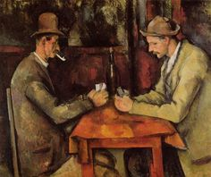 """Paul Cézanne, Aix-en-Provence, France French artist and Post-Impressionist painter. """"The Card Players"""" The Courtauld Gallery London. Cezanne Art, Paul Cezanne Paintings, Oil Paintings, French Paintings, Impressionist Paintings, Paintings Online, Paintings Famous, Classic Paintings, Contemporary Paintings"""