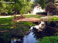 Octagonal Pier on a Natural Swimming Pool/Pond