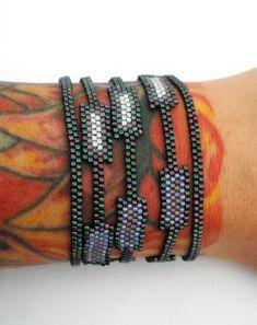 Purple Layers Peyote Cuff Bracelet - JEWELRY AND TRINKETS