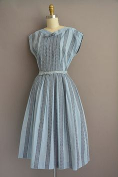 50s chambray cotton stripe vintage dress / by simplicityisbliss