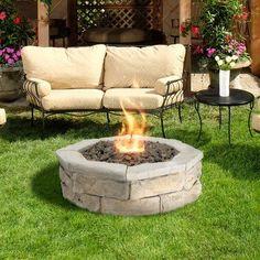 Natural Concrete Products Co Concrete Fossill Limestone Propane Gas Fire Pit