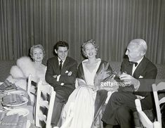 New York NY Marlene Dietrich Eddie Fisher Marlene's daughter Maria and a friend at the El Morocco Club East 54th St
