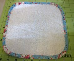 Make your own washcloths. One big bath towel makes at least ten wash cloths.