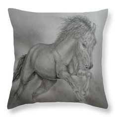 Spirit Of Freedom Throw Pillow for Sale by Faye Anastasopoulou Bedroom Sitting Room, Ocean Scenes, Picture Gifts, Fancy Houses, Cool Themes, Pillow Reviews, Equine Art, Pillow Sale, Artist At Work