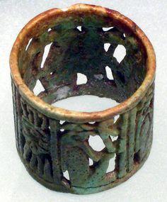 Ring, Period: Third Intermediate,Dynasty 21–24 ca. 1070–712 B.C. Egypt,  Medium: Faience