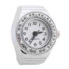 Ring Watch Quartz Silver Alloy Round Sphere for Women Dame U1X7  | eBay