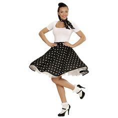 Disfraz Falda Anos 60 Negro