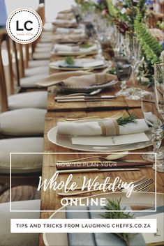 Planning your entire wedding online is not only possible but so easy! Here is our guide on how you can do it too #onlinewedding #onlineplanning #wedingplanning #covid #southafricanweddings #weddingcaterers #laughingchefs