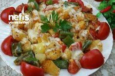 Tereyağlı Haşlanmış Patatesli Biberli Nefis Kahvaltılık