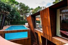 Contemporary Home Design : Villa al Mare by Lanfranco Pollini « Awesome Architecture Swimming Pool Designs, Swimming Pools, Exterior Design, Interior And Exterior, Lofts, Dream Pools, Corten Steel, Amazing Spaces, Cool Pools