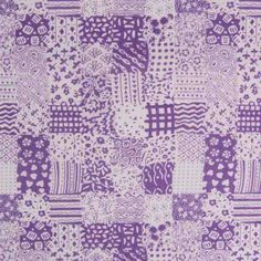 Patchwork Poly Cotton 1 Purple 112cm