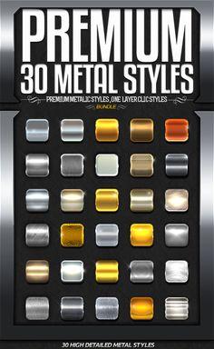 Premium Metal Styles Bundle. Download here: https://graphicriver.net/item/premium-metal-styles-bundle/17262329?ref=ksioks