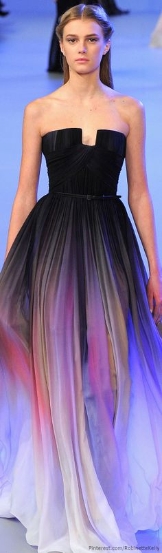 I have no reason to ever own this dress, but I think it's beautiful. Elie Saab Haute Couture | S/S 2014